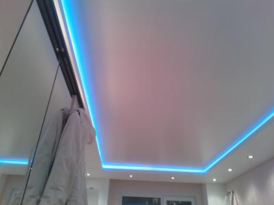 натяжные потолки фото со светодиодной лентой